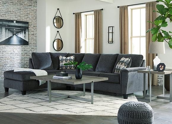 Abinger 2PC Sofa w/ LAF Chaise - Smoke