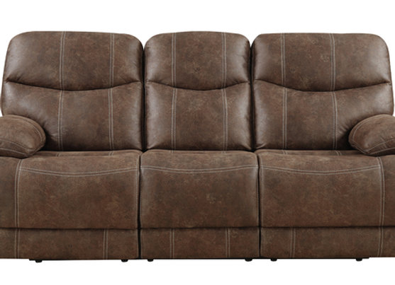 Earl Reclining Sofa - Sanded Brown