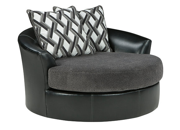 Kumasi Swivel Chair - Smoke
