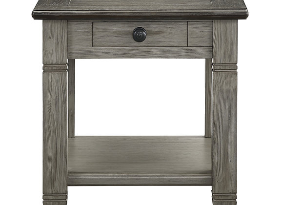 Granby End Table - Gray/Brown