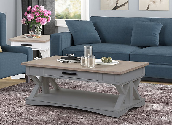 Americana Modern Rectangle Coffee Table - Dove