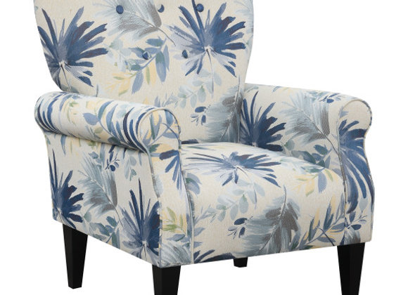 Lydia Accent Chair - Blue Floral