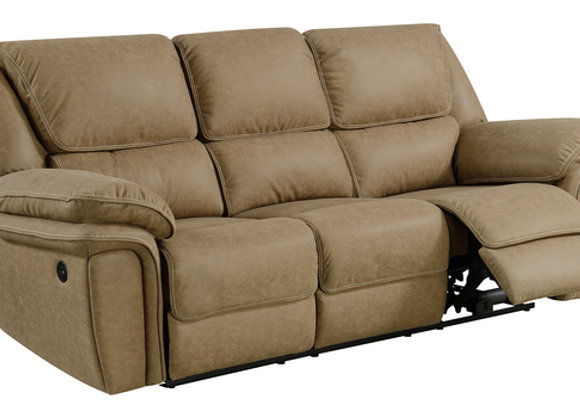Allyn Power Reclining Sofa - Khaki