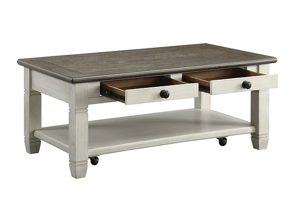 Granby Coffee Table - White/Brown