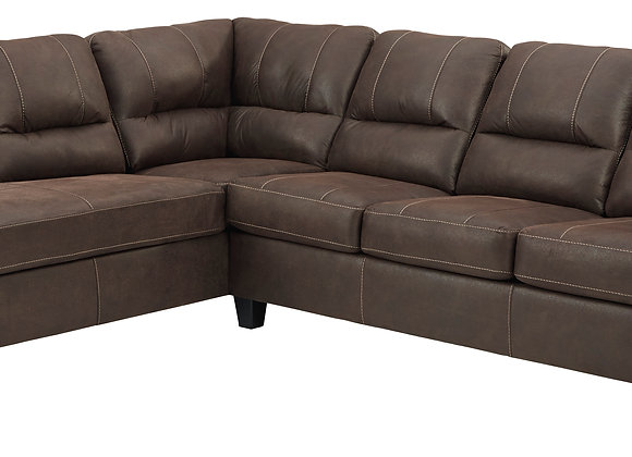 Navi 2PC Sofa w/ LAF Chaise - Chestnut