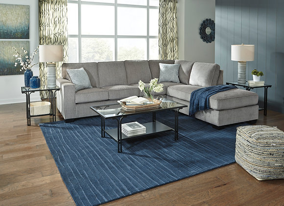Altari 2PC Sectional w/ RAF Chaise - Alloy