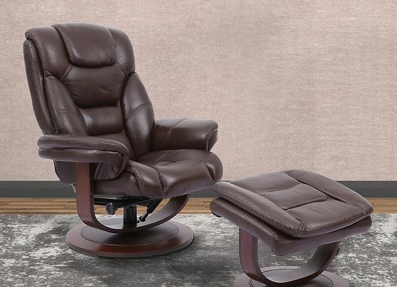 Monarch Manual Swivel Reclining Chair w/ Ottoman - Robust