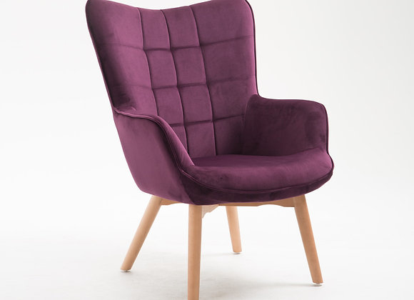 Margo Occasional Chair - Purple