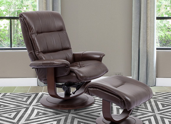 Knight Manual Swivel Reclining Chair w/ Ottoman - Robust