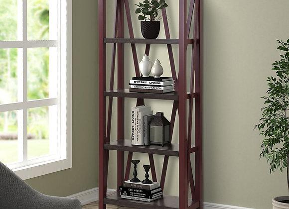 Americana Modern Etagere Bookcase - Cranberry