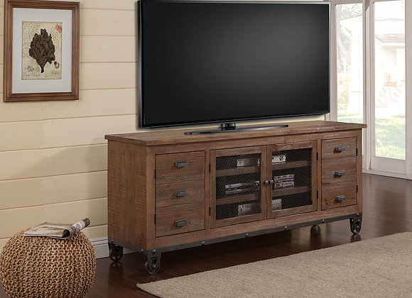 LaPaz 76 Inch Console - Rustic Worn Pine