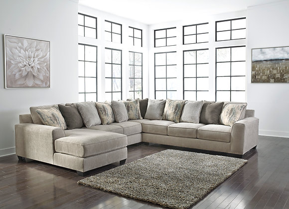 Ardsley 4PC Sectional w/ LAF Chaise - Pewter