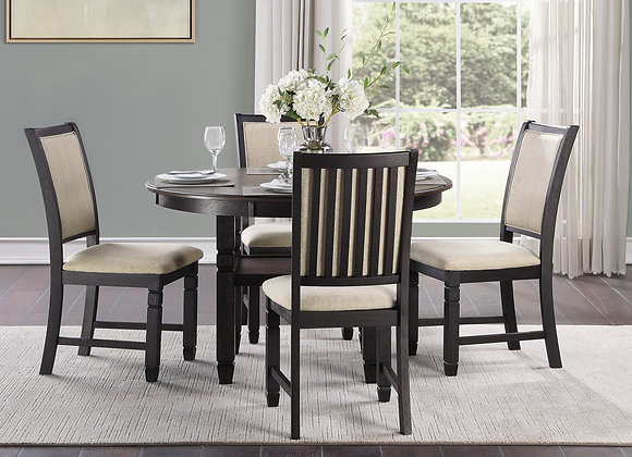 Asher 5PC Dining Set - Black