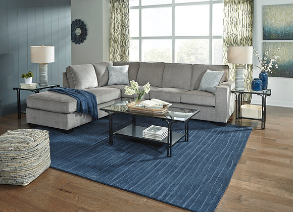 Altari 2PC Sectional w/ LAF Chair - Alloy