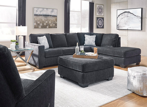 Altari 2PC Sectional w/ RAF Chaise - Slate