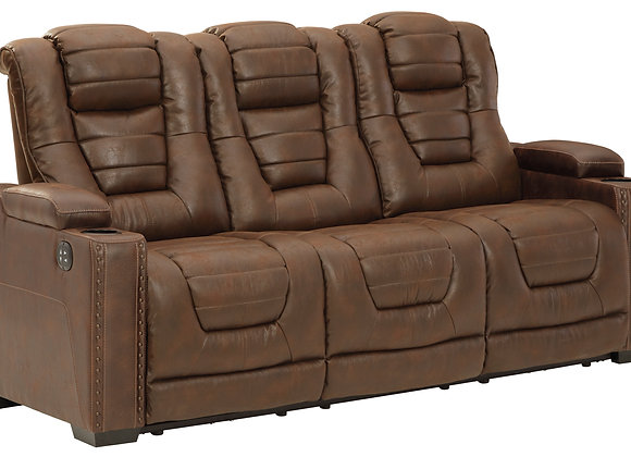 Owner's Box Power Reclining Sofa w/ HDRST - Thyme