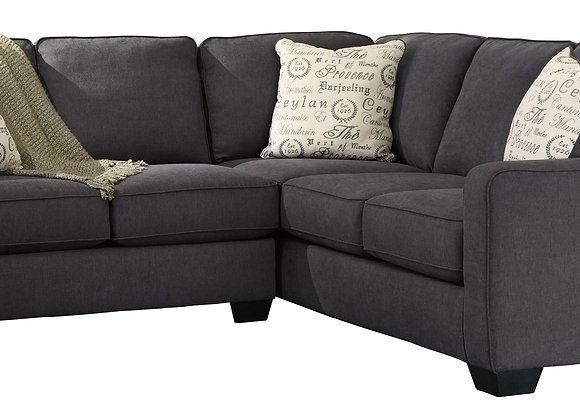 Alenya 2PC Small Sectional - Charcoal