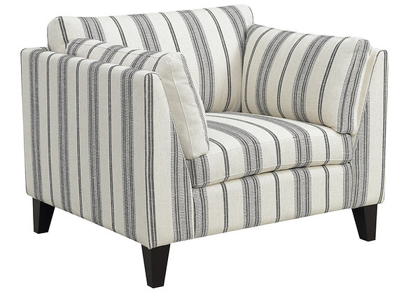 Elsbury Chair - Gray Stripe