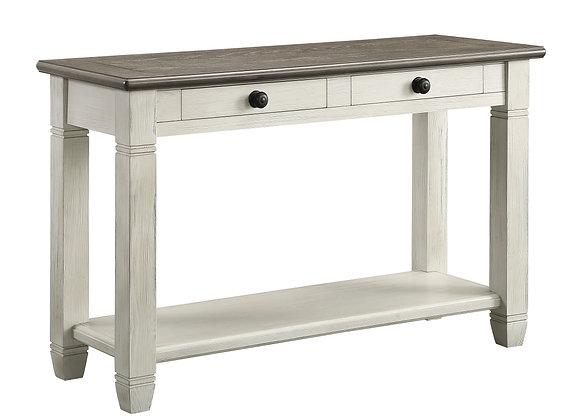 Granby Sofa Table - White/Brown