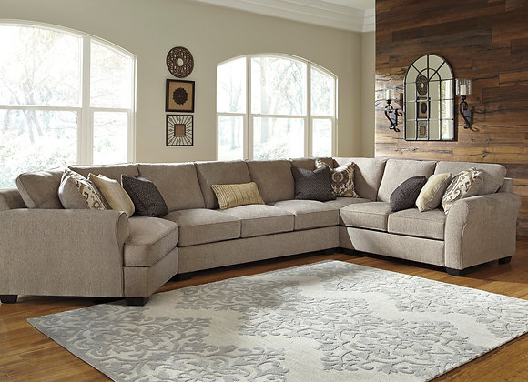 Pantomine 4PC Sectional w/ LAF Cuddler - Driftwood
