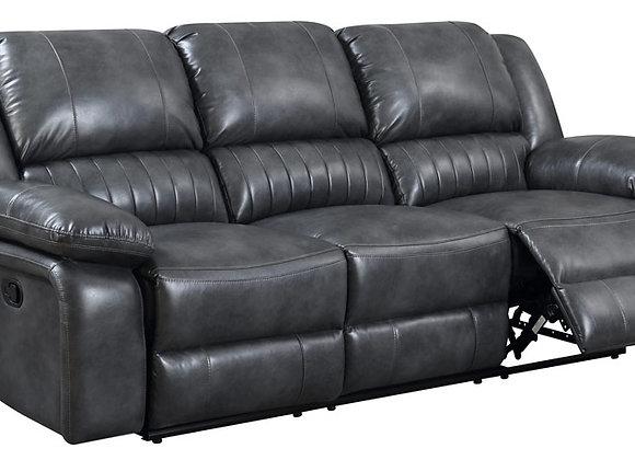 Navarro Reclining Sofa - Gray PU