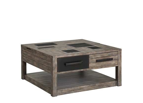 River Rock Square Lift Top Coffee Table - Siltstone