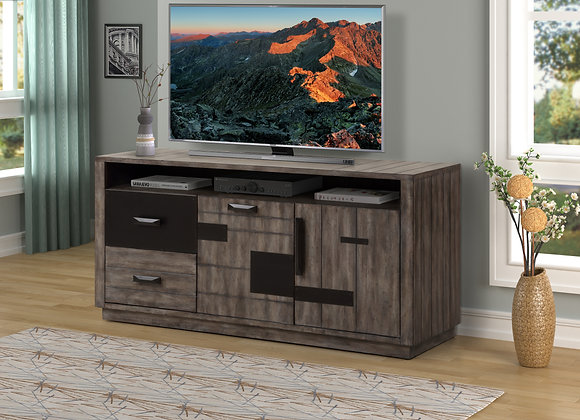 River Rock 63 Inch TV Console - Siltstone