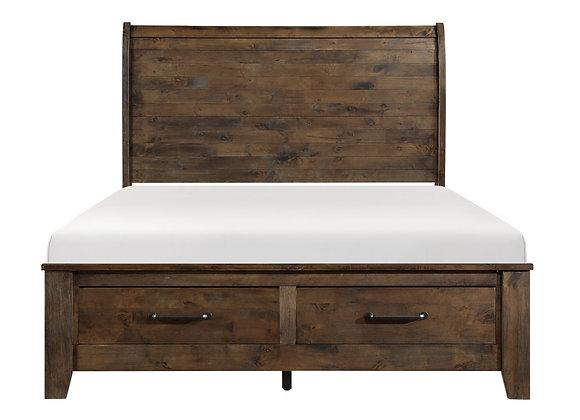Jerrick Queen Storage Bed - Burnished Brown
