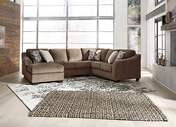 Graftin 3PC Sectional w/ LAF Chaise - Teak