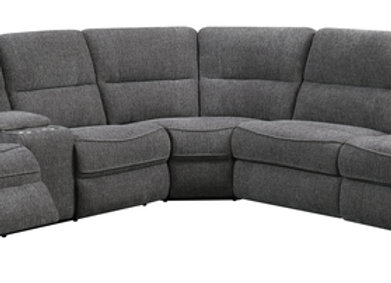 Aurora 3PC Sectional with 2 Power Recliners and Full Sleeper - Platinum
