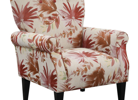 Lydia Accent Chair - Red Floral