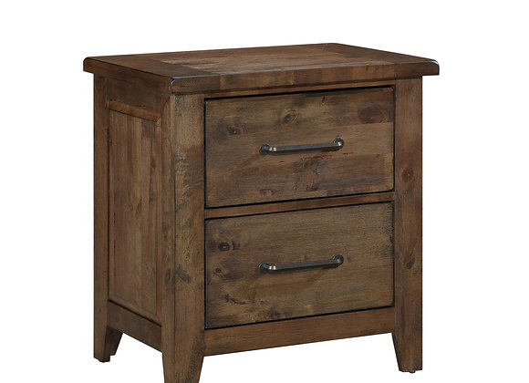 Jerrick Nightstand - Burnished Brown