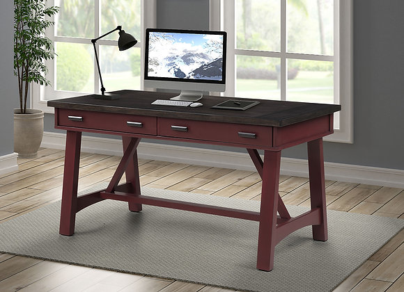 Americana Modern 60 Inch Writing Desk - Cranberry