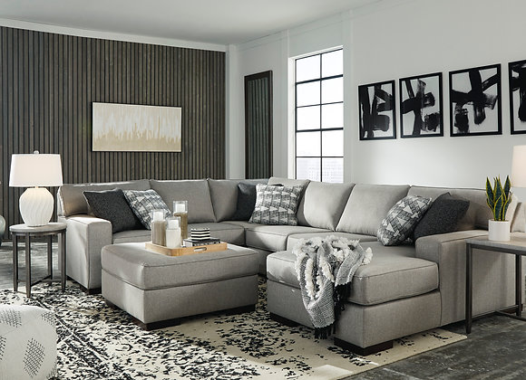 Marsing 4PC Sectional w/ RAF Chaise - Slate