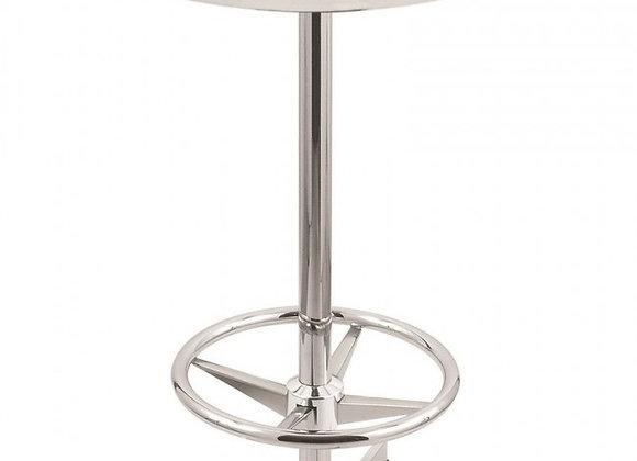 36 Inch Round/42 Inch High Pub Table - Chrome