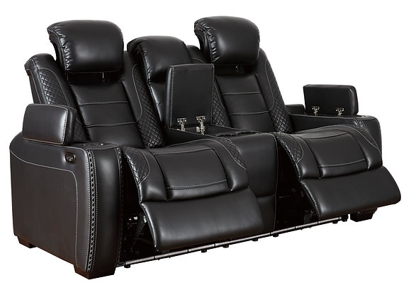Party Time Power Reclining Sofa w/ HDRST - Midnight