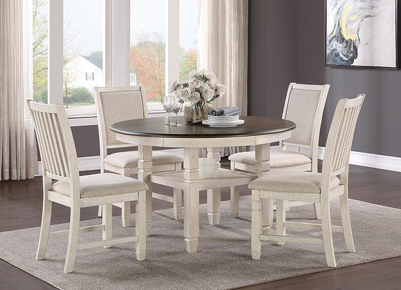 Asher 5PC Dining Set - White