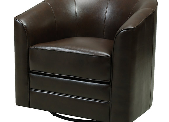 Milo Swivel Occasional Chair - Dk Brown