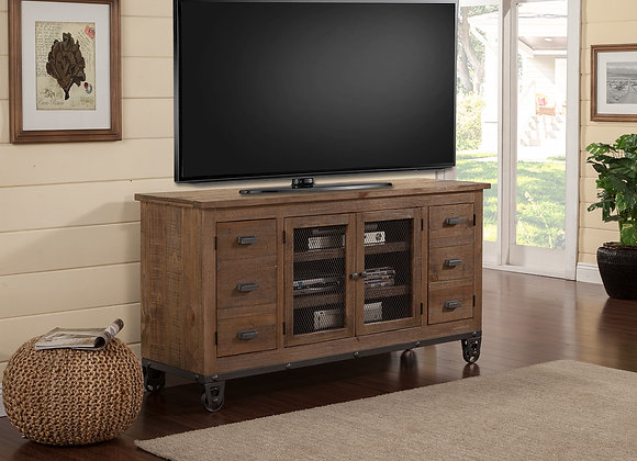 LaPaz 63 Inch Console - Rustic Worn Pine