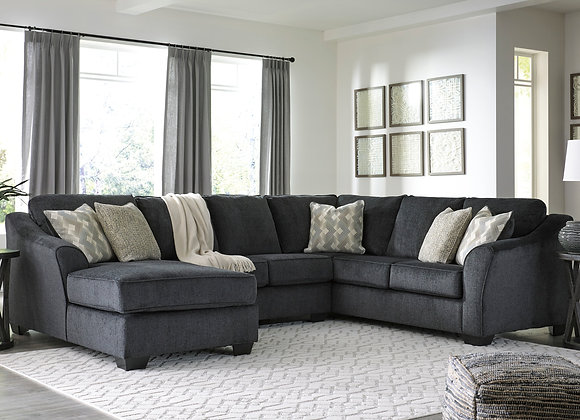 Eltman 3PC Sectional w/ LAF Chaise - Slate