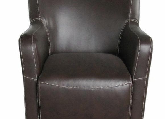 Amanda Occasional Chair - Brown PU