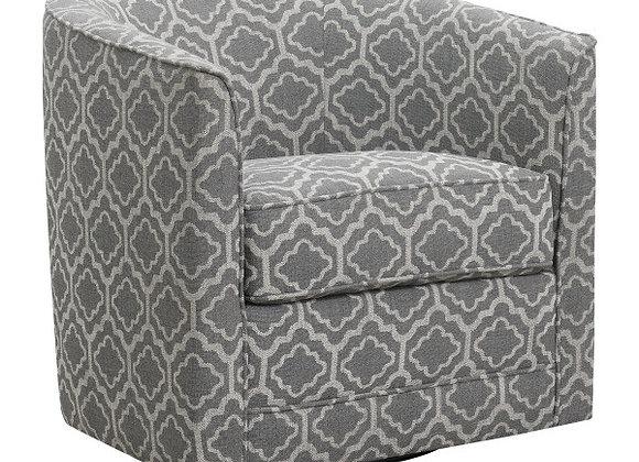Milo Swivel Accent Chair - Gray