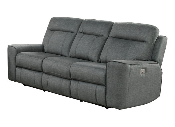 Parthenon Power Reclining Sofa with PWR Headrest - Titanium