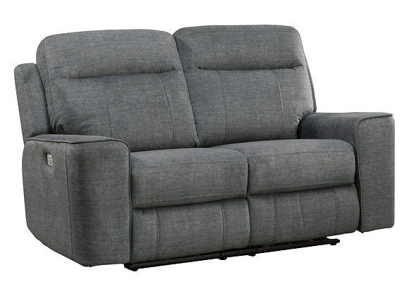 Parthenon Power Reclining Loveseat with PWR Headrest - Titanium