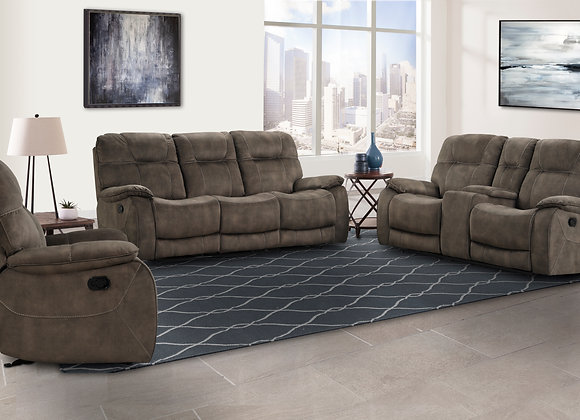 Cooper Console Reclining Love - Brown