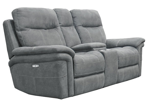 Mason Power Reclining Console Loveseat with PWR Headrest - Carbon