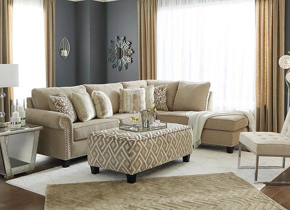 Dovemont 2PC Sofa w/ RAF Chaise - Putty