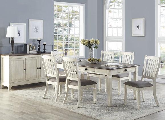 Granby 7PC Dining Set - White