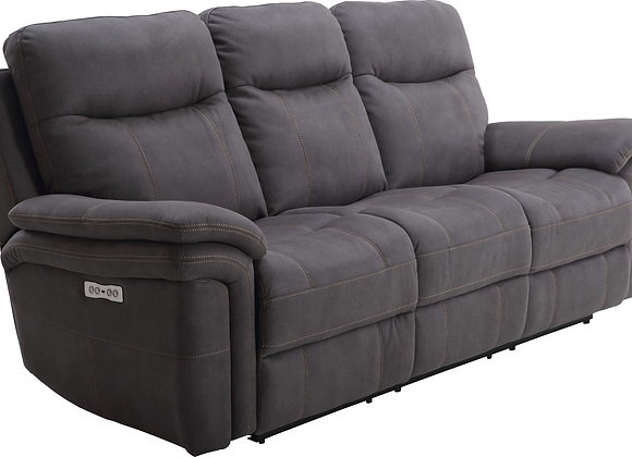 Mason Power Reclining Sofa with PWR Headrest - Charcoal