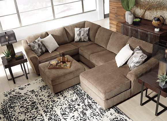 Graftin 3PC Sectional w/ RAF Chaise - Teak